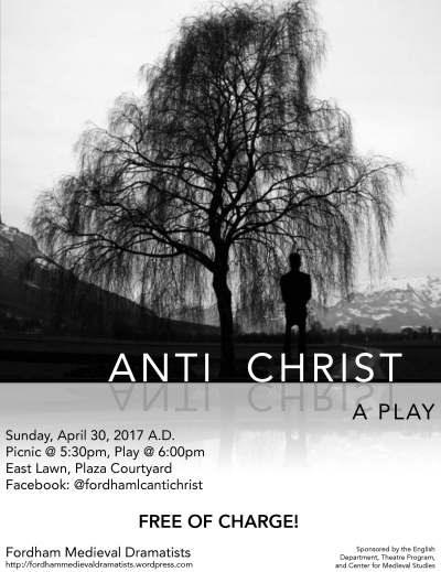 Poster for FMD's performance of the Chester Antichrist.
